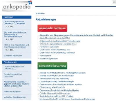 Onkopedia-Aktualisierungen